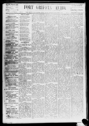 Fort Griffin Echo (Fort Griffin, Tex.), Vol. 1, No. 49, Ed. 1 Saturday, December 6, 1879