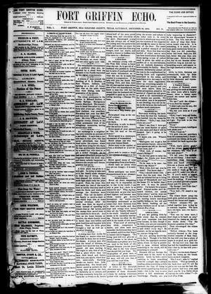 Fort Griffin Echo (Fort Griffin, Tex.), Vol. 1, No. 51, Ed. 1 Saturday, December 20, 1879