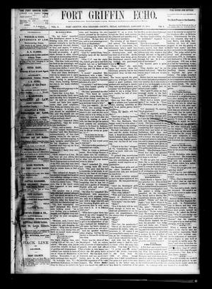 Fort Griffin Echo (Fort Griffin, Tex.), Vol. 2, No. 2, Ed. 1 Saturday, January 17, 1880