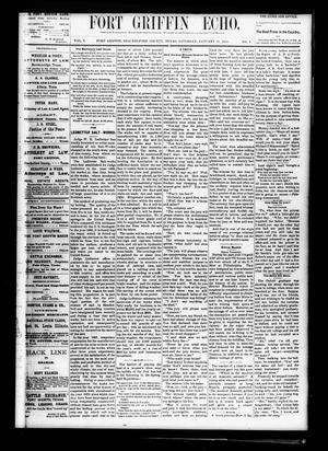 Fort Griffin Echo (Fort Griffin, Tex.), Vol. 2, No. 4, Ed. 1 Saturday, January 31, 1880