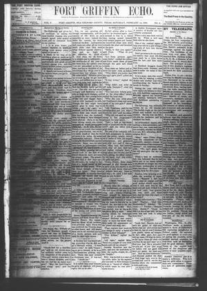 Fort Griffin Echo (Fort Griffin, Tex.), Vol. 2, No. 6, Ed. 1 Saturday, February 14, 1880