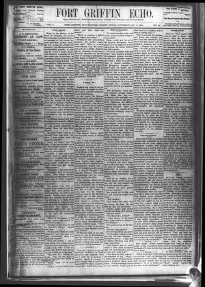 Fort Griffin Echo (Fort Griffin, Tex.), Vol. 2, No. 52, Ed. 1 Saturday, January 8, 1881