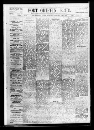 Fort Griffin Echo (Fort Griffin, Tex.), Vol. 3, No. 3, Ed. 1 Saturday, January 29, 1881