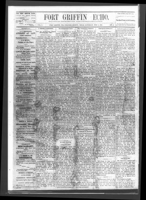 Fort Griffin Echo (Fort Griffin, Tex.), Vol. 3, No. 4, Ed. 1 Saturday, February 5, 1881