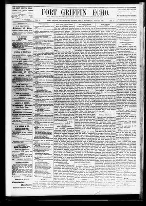 Fort Griffin Echo (Fort Griffin, Tex.), Vol. 3, No. 24, Ed. 1 Saturday, June 25, 1881
