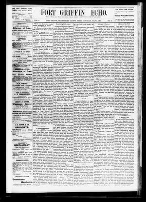 Fort Griffin Echo (Fort Griffin, Tex.), Vol. 3, No. 25, Ed. 1 Saturday, July 2, 1881