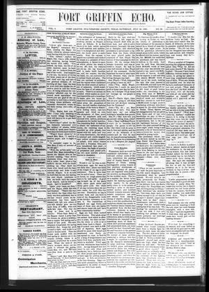 Fort Griffin Echo (Fort Griffin, Tex.), Vol. 3, No. 29, Ed. 1 Saturday, July 30, 1881