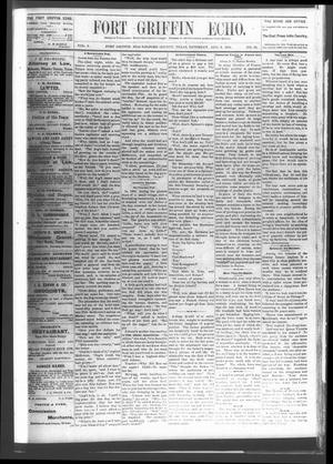 Fort Griffin Echo (Fort Griffin, Tex.), Vol. 3, No. 30, Ed. 1 Saturday, August 6, 1881