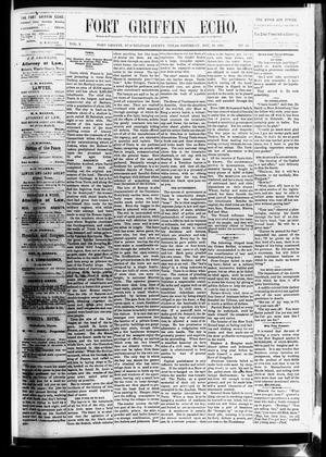 Fort Griffin Echo (Fort Griffin, Tex.), Vol. 3, No. 43, Ed. 1 Saturday, November 19, 1881