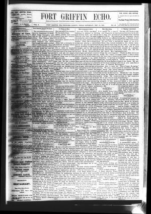 Fort Griffin Echo (Fort Griffin, Tex.), Vol. 3, No. 46, Ed. 1 Saturday, December 10, 1881