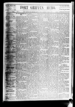 Fort Griffin Echo (Fort Griffin, Tex.), Vol. 3, No. 48, Ed. 1 Saturday, December 24, 1881