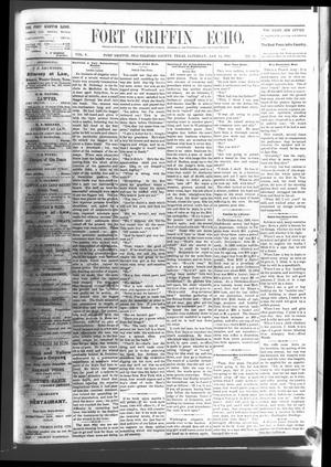 Fort Griffin Echo (Fort Griffin, Tex.), Vol. 3, No. 51, Ed. 1 Saturday, January 14, 1882