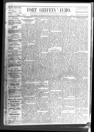 Fort Griffin Echo (Fort Griffin, Tex.), Vol. 3, No. 52, Ed. 1 Saturday, January 21, 1882