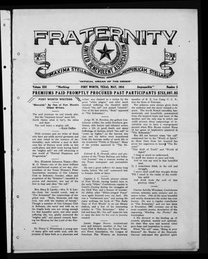 Primary view of object titled 'Fraternity (Fort Worth, Tex.), Vol. 13, No. 5, Ed. 1 Friday, May 1, 1914'.