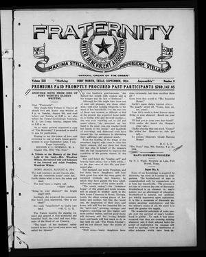 Primary view of object titled 'Fraternity (Fort Worth, Tex.), Vol. 13, No. 9, Ed. 1 Tuesday, September 1, 1914'.