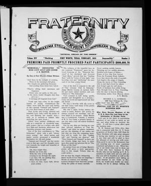 Fraternity (Fort Worth, Tex.), Vol. 14, No. 2, Ed. 1 Monday, February 1, 1915