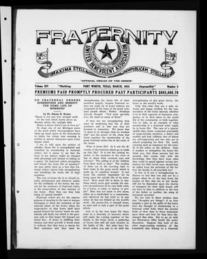 Primary view of object titled 'Fraternity (Fort Worth, Tex.), Vol. 14, No. 3, Ed. 1 Monday, March 1, 1915'.