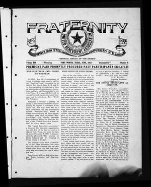 Primary view of object titled 'Fraternity (Fort Worth, Tex.), Vol. 14, No. 6, Ed. 1 Tuesday, June 1, 1915'.