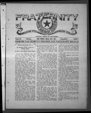 Primary view of object titled 'Fraternity (Fort Worth, Tex.), Vol. 14, No. 7, Ed. 1 Thursday, July 1, 1915'.