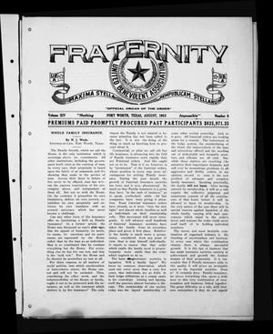 Fraternity (Fort Worth, Tex.), Vol. 14, No. 8, Ed. 1 Sunday, August 1, 1915