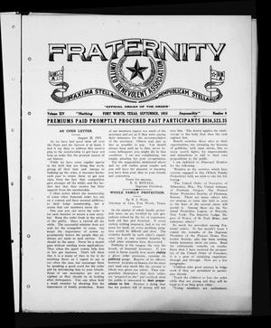 Primary view of object titled 'Fraternity (Fort Worth, Tex.), Vol. 14, No. 9, Ed. 1 Wednesday, September 1, 1915'.