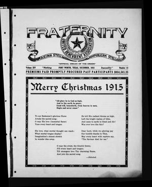 Primary view of object titled 'Fraternity (Fort Worth, Tex.), Vol. 14, No. 12, Ed. 1 Wednesday, December 1, 1915'.