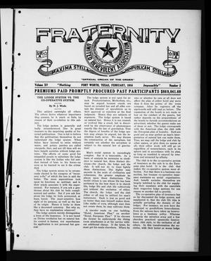 Fraternity (Fort Worth, Tex.), Vol. 15, No. 2, Ed. 1 Tuesday, February 1, 1916