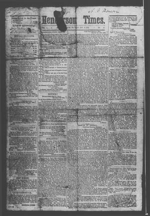 Primary view of object titled 'Henderson Times.  (Henderson, Tex.), Vol. 4, No. 42, Ed. 1 Saturday, November 21, 1863'.
