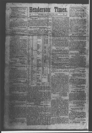 Primary view of object titled 'Henderson Times.  (Henderson, Tex.), Vol. 4, No. 46, Ed. 1 Saturday, December 19, 1863'.