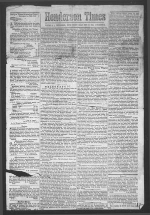 Primary view of object titled 'Henderson Times.  (Henderson, Tex.), Vol. 5, No. 35, Ed. 1 Tuesday, September 27, 1864'.