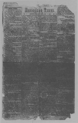 Primary view of object titled 'Henderson Times.  (Henderson, Tex.), Vol. 5, No. 46, Ed. 1 Saturday, December 17, 1864'.