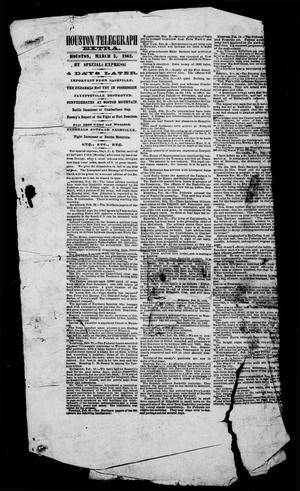 Houston Telegraph (Houston, Tex.), Ed. 1 Monday, March 3, 1862