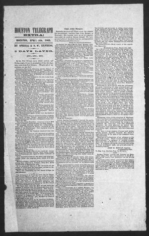 Houston Telegraph (Houston, Tex.), Ed. 1 Saturday, April 5, 1862