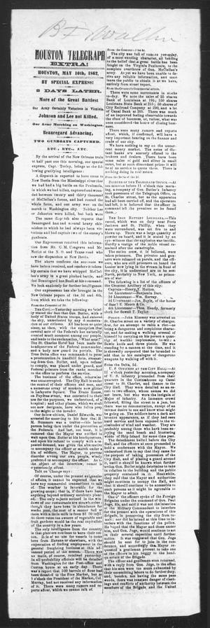 Primary view of Houston Telegraph (Houston, Tex.), Ed. 1 Saturday, May 10, 1862