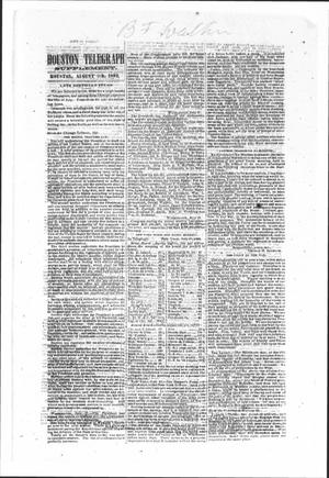 Primary view of object titled 'Houston Telegraph (Houston, Tex.), Ed. 1 Saturday, August 9, 1862'.