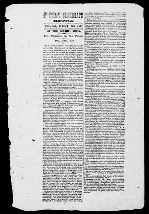 Primary view of object titled 'Houston Telegraph (Houston, Tex.), Ed. 1 Saturday, August 30, 1862'.