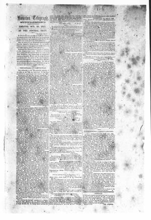 Primary view of object titled 'Houston Telegraph (Houston, Tex.), Ed. 1 Friday, October 3, 1862'.