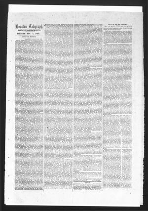 Primary view of object titled 'Houston Telegraph (Houston, Tex.), Ed. 1 Friday, November 7, 1862'.