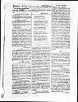 Primary view of object titled 'Houston Telegraph (Houston, Tex.), Ed. 1 Monday, December 15, 1862'.