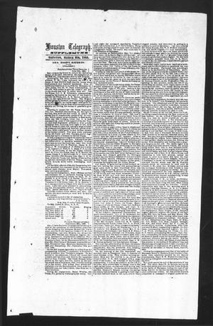 Primary view of object titled 'Houston Telegraph (Houston, Tex.), Ed. 1 Monday, March 9, 1863'.