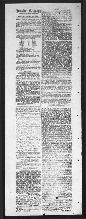 Primary view of object titled 'Houston Telegraph (Houston, Tex.), Ed. 1 Friday, September 25, 1863'.
