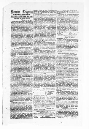 Primary view of object titled 'Houston Telegraph (Houston, Tex.), Ed. 1 Monday, November 16, 1863'.