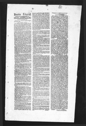 Primary view of object titled 'Houston Telegraph (Houston, Tex.), Ed. 1 Monday, November 30, 1863'.