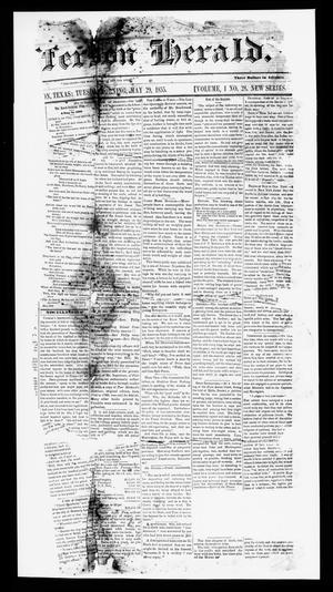 Primary view of object titled 'Jefferson Herald. (Jefferson, Tex.), Vol. 1, No. 28, Ed. 1 Tuesday, May 29, 1855'.