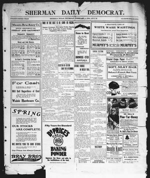Primary view of object titled 'Sherman Daily Democrat (Sherman, Tex.), Vol. 23, Ed. 1 Thursday, February 4, 1904'.