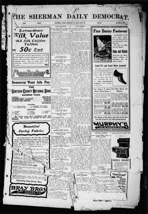 Primary view of object titled 'The Sherman Daily Democrat (Sherman, Tex.), Vol. 24, Ed. 1 Friday, February 24, 1905'.