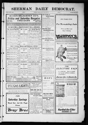 Primary view of object titled 'Sherman Daily Democrat (Sherman, Tex.), Vol. 26, Ed. 1 Friday, June 21, 1907'.
