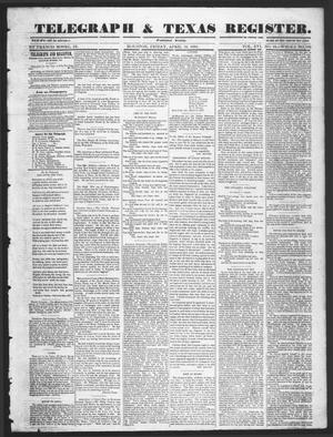 Primary view of object titled 'Telegraph & Texas Register (Houston, Tex.), Vol. 16, No. 16, Ed. 1 Friday, April 18, 1851'.