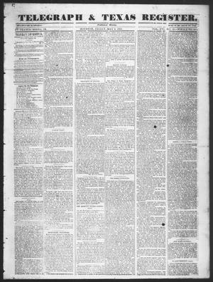 Telegraph & Texas Register (Houston, Tex.), Vol. 16, No. 19, Ed. 1 Friday, May 9, 1851