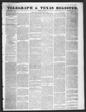 Primary view of object titled 'Telegraph & Texas Register (Houston, Tex.), Vol. 16, No. 18, Ed. 1 Friday, May 2, 1851'.